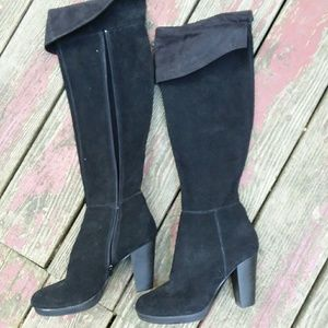 Nine West Suede Over The Knee Boots Aloysa sz 7M